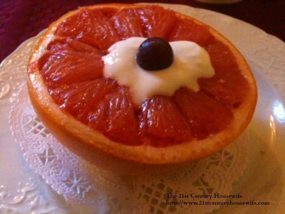 Grapefruit with Sherry Sauce