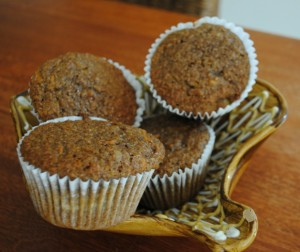 Carrot Walnut Bran Muffins