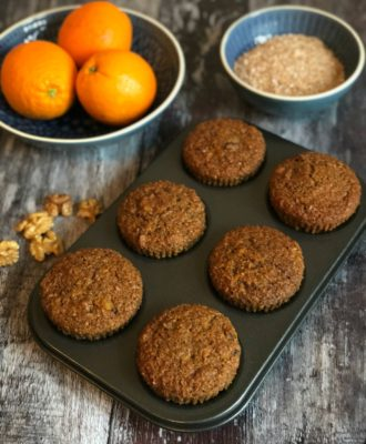 Carrot Walnut Bran Muffins - healthier, flavourful muffins the whole family will love!