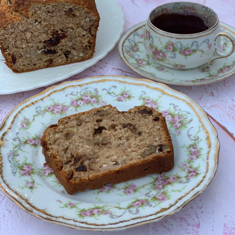Don't miss my easy recipe for Banana Maple Walnut Loaf Cake. This raisin and nut studded, maple spiked loaf is Banana Bread with a difference!