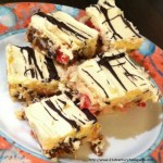 Coconut Date and Cherry Christmas Squares