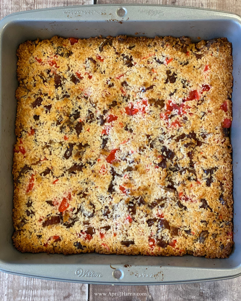 Aunt Irene's Christmas squares