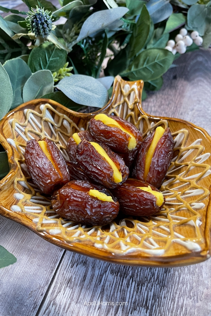 Don't miss this easy vintage recipe for Marzipan Dates, the perfect Christmastime snack.