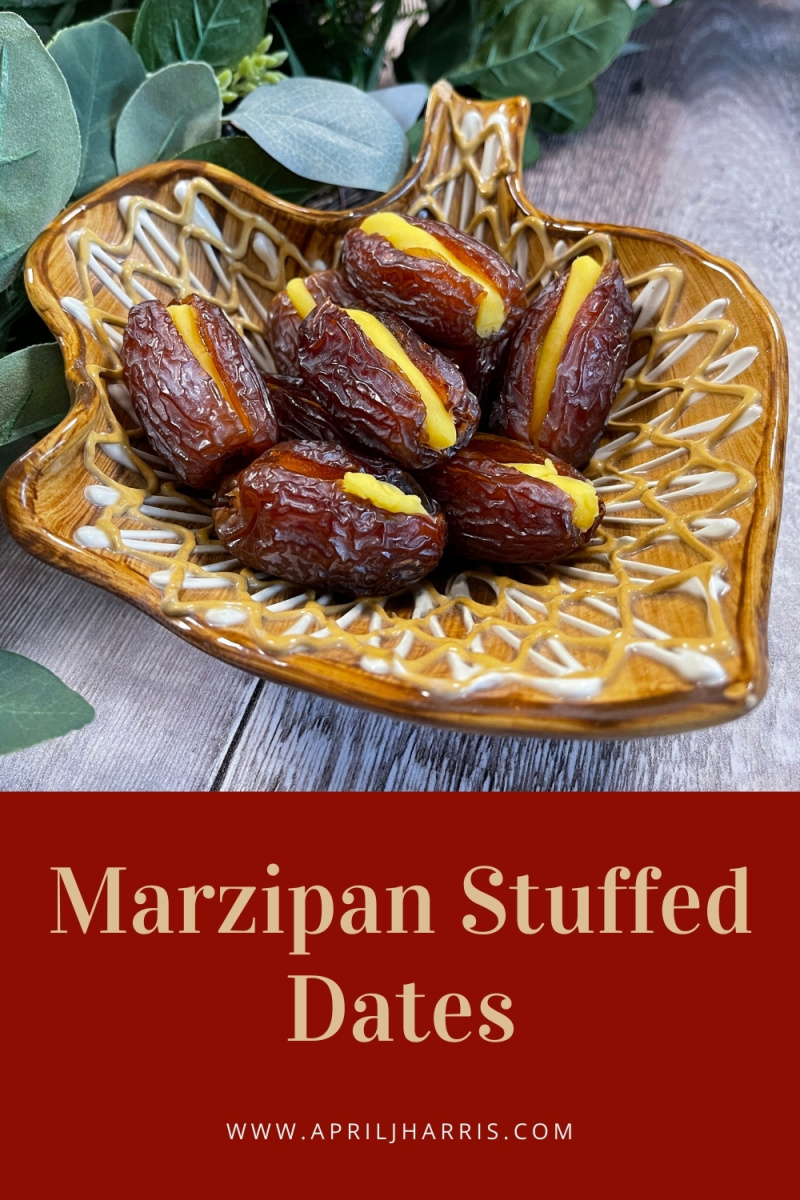 Marzipan Stuffed Dates are an easy and delicious vintage recipe