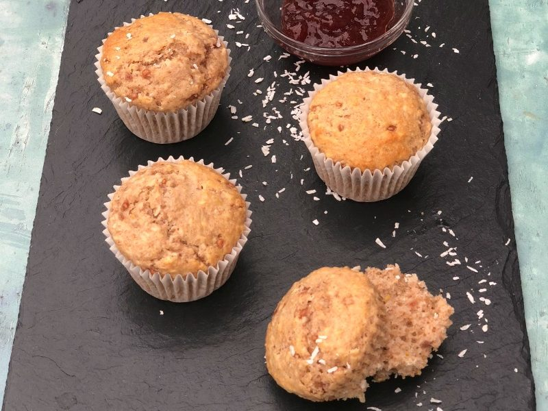 Hearty jam spiked muffins with the goodness of whole wheat flour? Yes please! My Mom's Old Fashioned Jam Muffins are perfect for breakfast, afternoon tea or a snack. The recipe couldn't be easier!