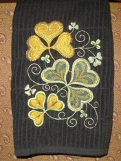 machine-embroidered-shamrock-towel
