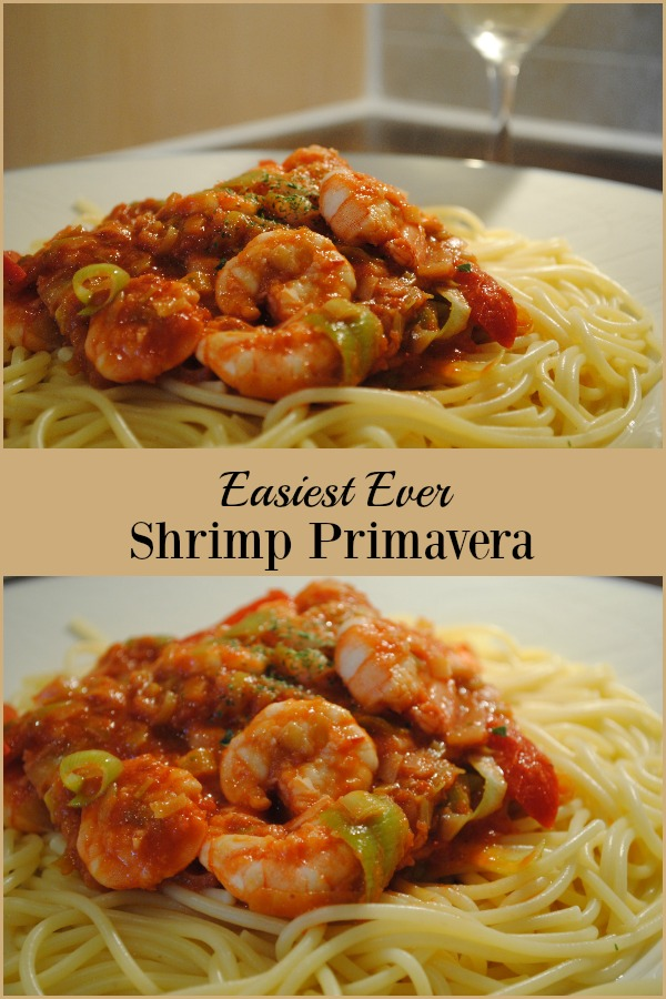 Fresh shrimp, mild spices and stir fried vegetables in a rich tomato sauce make my Easiest Ever Shrimp Primavera recipe the perfect dinner for two. Plus, it can be ready in less than 30 minutes!