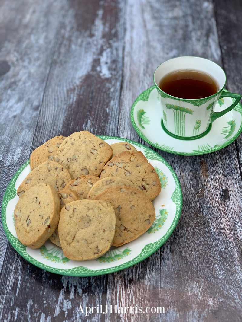 Orange Pecan Cookies - a slice and bake recipe