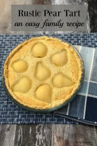 Our family recipe for Pear Tart using store cupboard ingredients that is easy to make as it is delicious