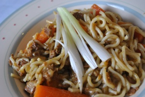 Orange Beef with Noodles