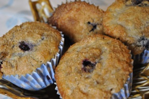 Lemon Blueberry Streusel Muffins