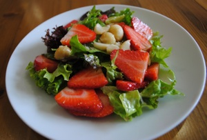 Strawberry and Macadamia Nut Salad