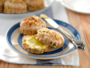 Warm Courgette (Zucchini) Scones and Going Veggie in Bite Size Chunks