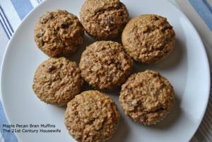 Maple Pecan Bran muffins
