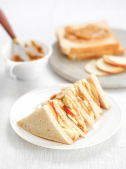 Peanut Butter and Fruit Burst Sandwich