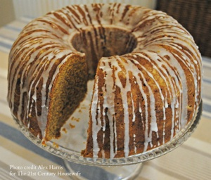 Pumpkin cake with slice