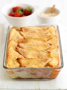 Strawberry Bread and Butter Pudding