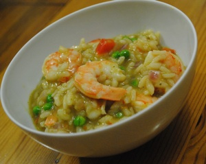 Shrimp and Vegetable Risotto