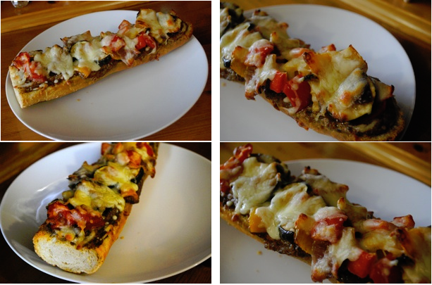 Easy Veggie French Bread Pizza