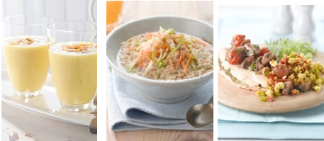 Seven Day Meatless Meal Plan from The Vegetarian Society