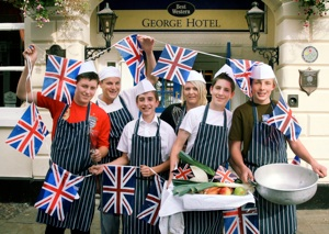 Pupils from The Friary School learning to cook at The George at Litchfield (credit Allan Williamson, Lichfield Mercury)