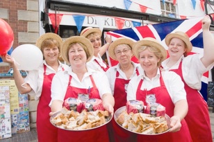 Ye Olde Pork Pie Shoppe, Melton taking part in British Food Fortnight (photo courtesy of The Melton Times)