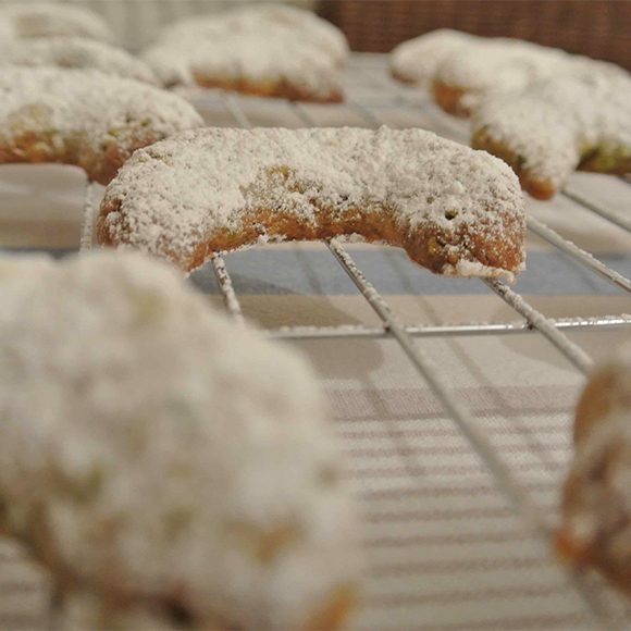 pistachio crescents