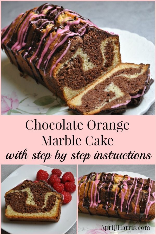 Easy step by step instructions for making a beautiful Chocolate Orange Marble Cake that tastes amazing.