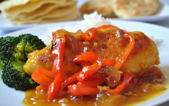 Curried Mango Chicken - an easy, family friendly recipe