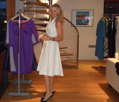 Suzanne Scott wearing 'Marilyn' from the Jane & Marilyn collection