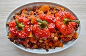Moroccan Stuffed Peppers Dished