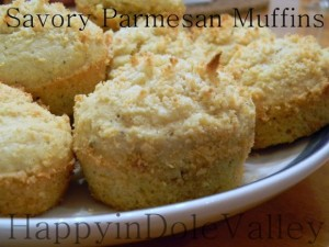 Savory Parmesan Muffins from Happy in Dole Valley