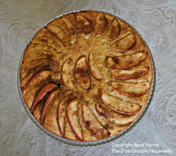 Spiced Apple and Almond Cake Top