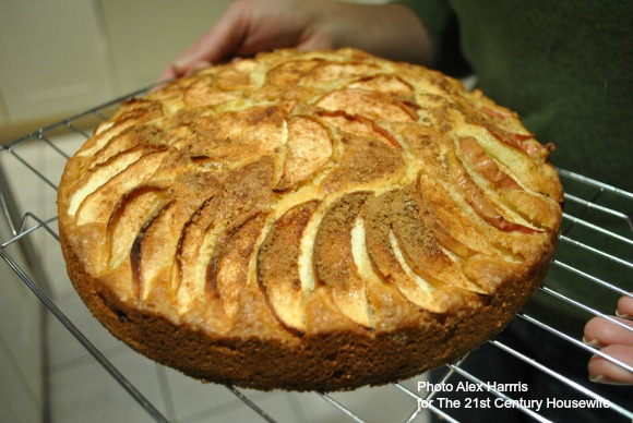 Spiced Apple and Almond Cake for British Food Fortnight on AprilJHarris.com