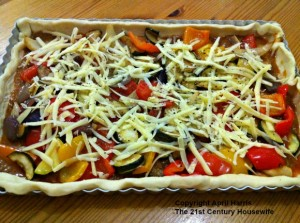 Mediterranean Vegetable Tart ready to go in the oven