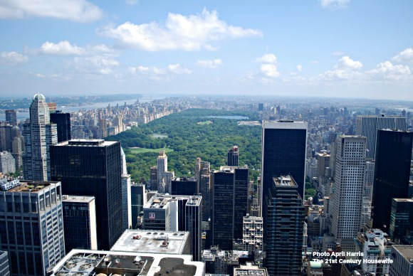 View over Central Park NYC