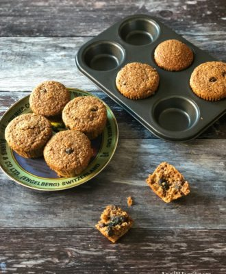 Bran Muffins Recipe - a healthier breakfast muffin the whole family will love