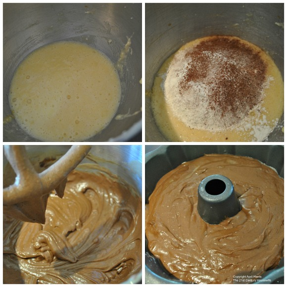 Mocha Cake Batter Collage