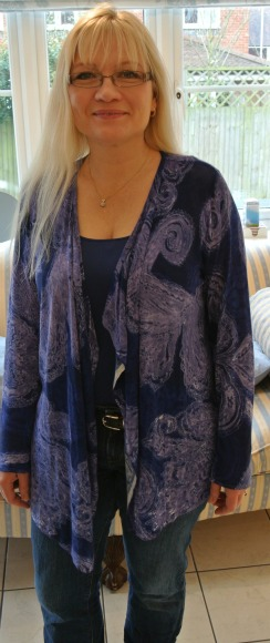 Purple Waterfall Cardigan