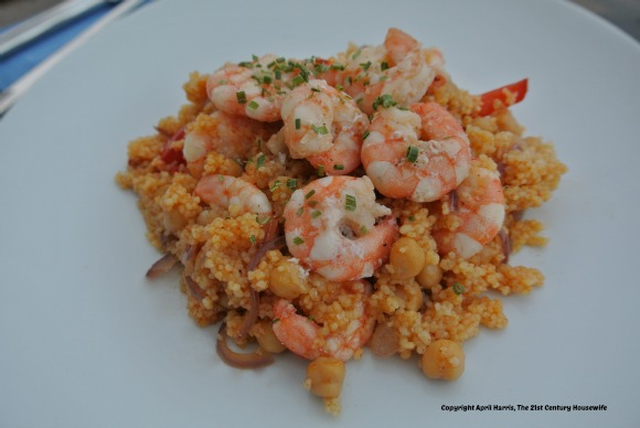 Moroccan Shrimp and Couscous on AprilJHarris.com