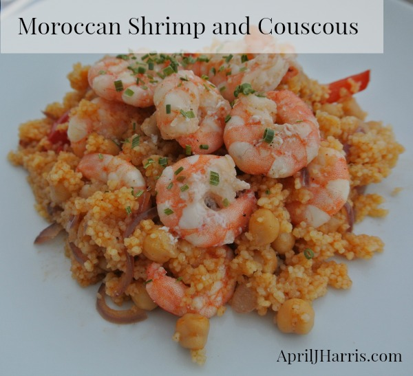 Quick, easy and oh so delicious Moroccan Shrimp and Couscous