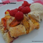 Quick and Easy Peach and Raspberry Cobbler