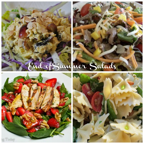 End of Summer Salads Collage