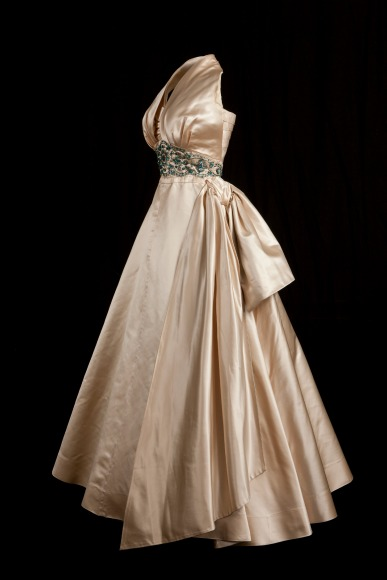Evening Gown worn by Princess Margaret 1951 Photograph courtesy of Historic Royal Palaces