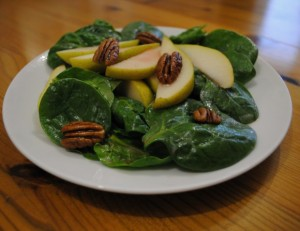 Pear-Pecan-Spinach-Salad