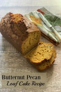 My Butternut Pecan Loaf Cake is easy to make, wholesome, nutty & delicious. Perfect for any occasion, it's a great way to use up leftover butternut squash!