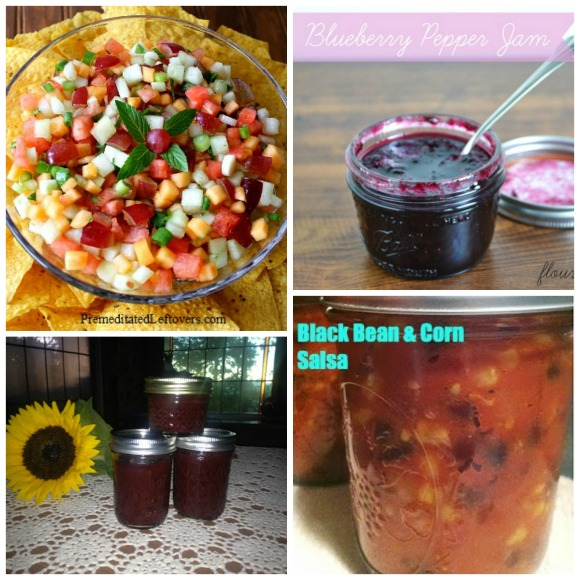 Jams and Salsas Collage