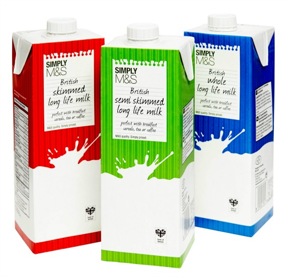 Long Life Milk in Tetra Paks