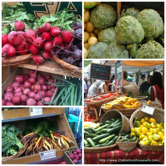 Market vegetables Collage