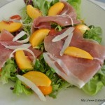 Peach Proscuitto and Parmesan Salad